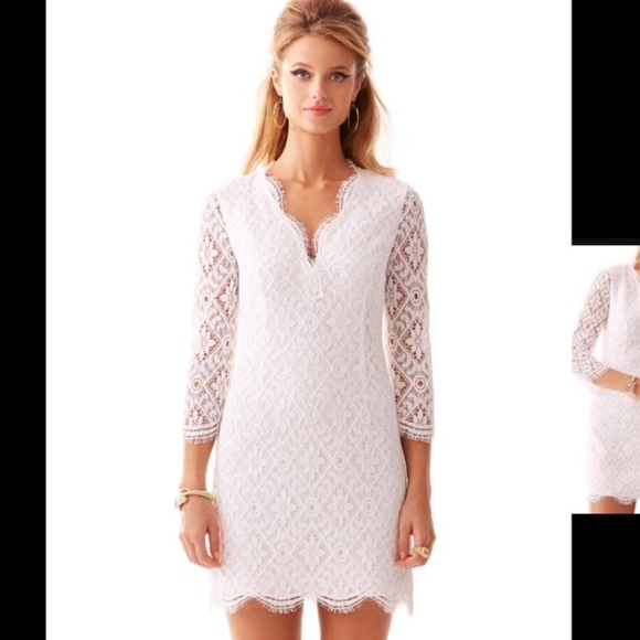 Lilly Pulitzer Dresses Meryl Lace Shift Dress Wedding 8 Poshmark